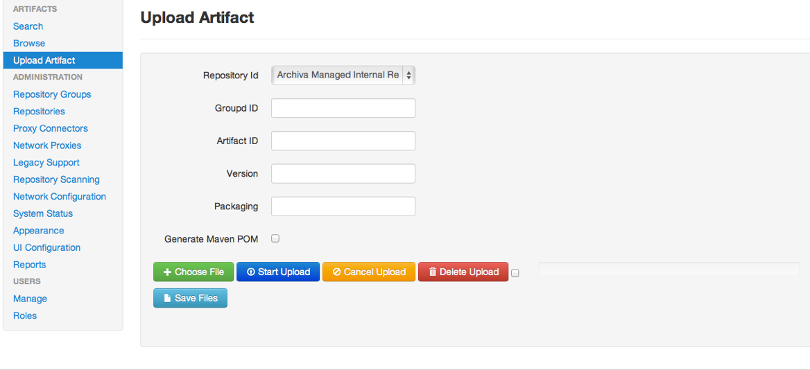 Archiva – The Build Artifact Repository Manager